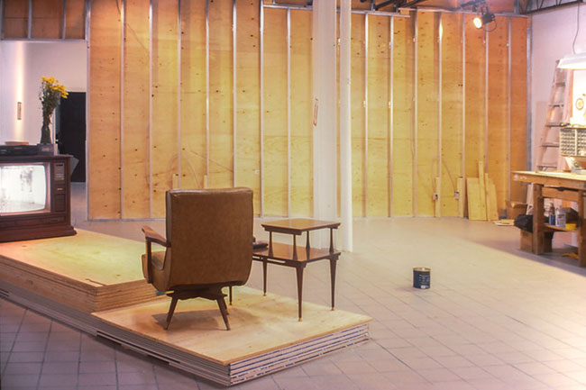 art installation wall building